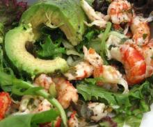 Marinated Avocado Crawfish and Crab Salad