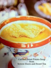 Curried Sweet Potato Soup With Leeks