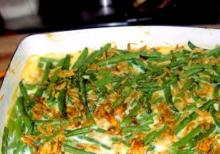New Orleans Green Beans With Cheddar Cheese