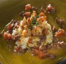 Crawfish and Andouille Grits
