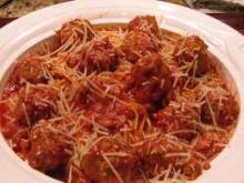 Creole Italian Meatball and Spaghetti