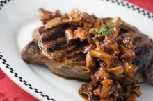 Smothered Pork Chops with Chanterelles