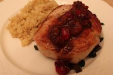 Baked Pork Chops With Cranberries