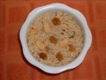 Coconut Rice with Almonds and Raisins