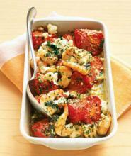 Roma Tomato, Shrimp and Feta Salad