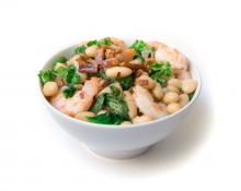 Lima Beans with Greens and Shrimp