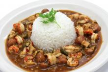 Chicken and Sausage Gumbo with Crawfish