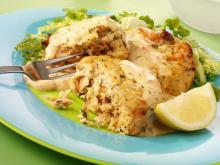 Emeril's Delmonico Crab Cakes with Mustard Crème Fraiche