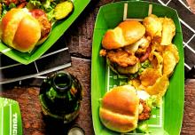 Fried Oyster Po' Boy Sliders