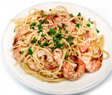 Garlic Spaghetti with Shrimp