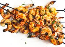 Grilled Garlicky Shrimp