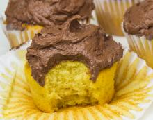 Old Fashioned Yellow Cake with Chocolate Frosting