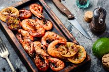 Lemon-Garlic Broiled Shrimp