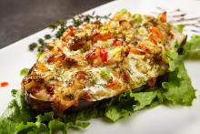 Mandina's Creole Eggplant and Shrimp