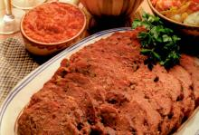 Meat Loaf with Roasted Red Pepper Sauce
