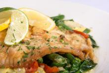 Gulf Fish over Sautéed Vegetables