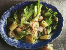 Pasta with Mini Meatballs & Escarole