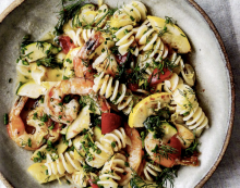 Pasta with Shrimp, Lemon, and Herbs
