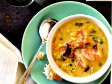 Shrimp, Corn, and Bacon Chowder