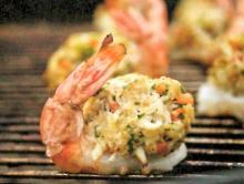 Colossal BBQ Shrimp with Crab Cake