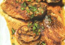 Snapper wtih Lemon-Butter Shrimp