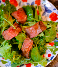 Creole-Spiced Steak Salad with Pepper Jelly Vinaigrette