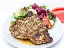 Swordfish Steak au Poivre