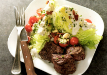Wedge Salad with Steak Tips
