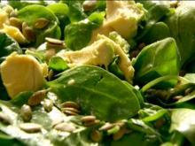 Spinach Avocado Salad with Blueberry Vinaigrette