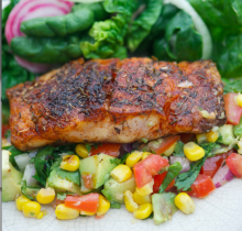 Blackened Snapper with Corn Relish