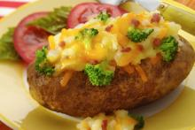 Cheddar Broccoli Bacon Stuffed Baked Potato