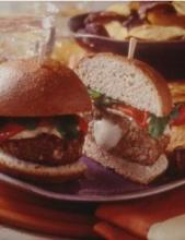 Mozzarella Cheese Stuffed Turkey Burgers