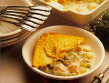 Cheddar Crusted Chicken Pot Pie