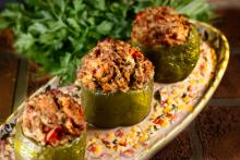 Chicken Stuffed Bell Peppers with Macque Choux