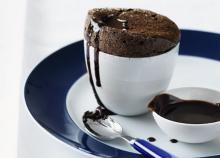 Chocolate Souffle with Chocolate Ganache