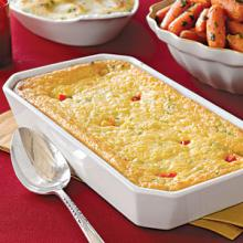 Corn and Red Pepper Pudding