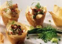 Phyllo Cups with Crabmeat Filling