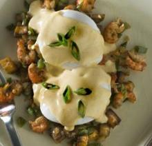 Louisiana Crawfish Hash with Poached Eggs