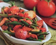 Creole String Beans with Ham and Potatoes
