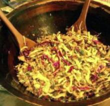 Crunchy Slaw With Pecans, Sunflower Seeds and Almonds