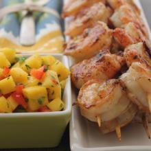 Emeril's Grilled Shrimp with Mango Salsa