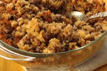 Italian Stuffing with Sausage and Parmesan Cheese