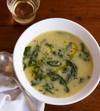 Kale And Cornmeal Soup