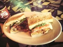 Fried Oyster Club Sandwich