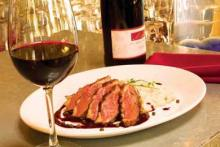 Pan Roasted Duck Breast with Pecan Sauce
