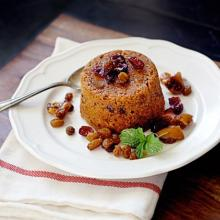 Rum Soaked Figgy Pudding