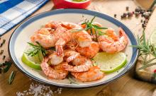Self-Basting Grilled Shrimp