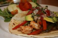 John Folse's Garlic Shrimp Fajitas