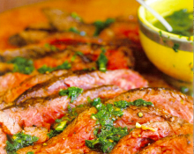 Flank Steak with Parsley Sauce