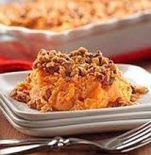 Sweet Potato Casserole with Pecan Topping